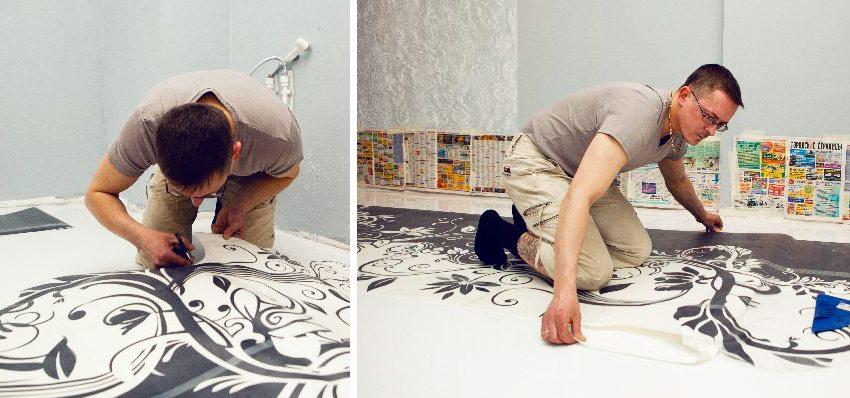 человеческое рисунки на полу своими руками модели