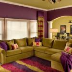 Фиолетовый и оливковый