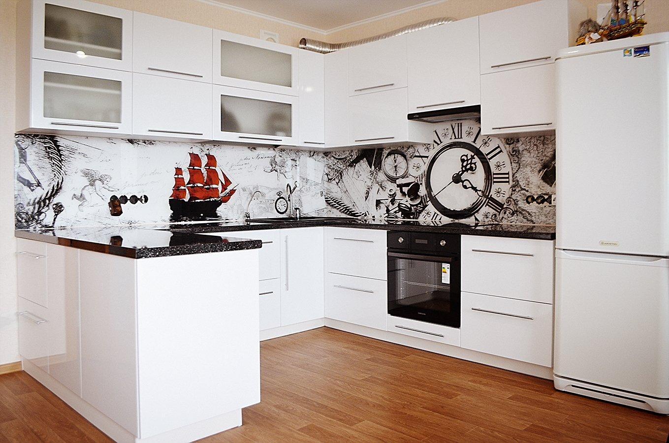 Скинали на кухне в стиле модерн