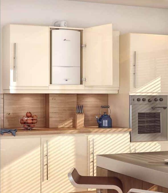 Газовый котел в маленькой кухне