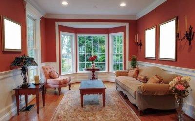 Дизайн гостиной с эркером — примеры интерьера