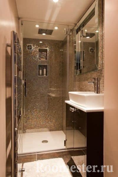 Минимализм в маленькой ванной комнате