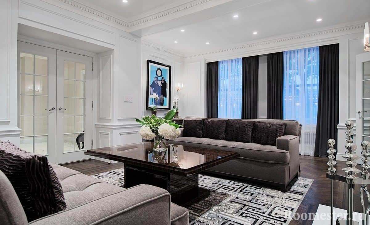 Неоклассика в интерьере: 30 фото идей дизайна квартир