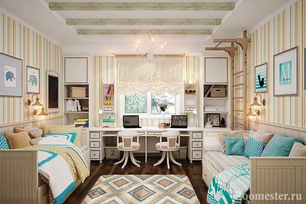 Детская комната для двоих разнополых детей