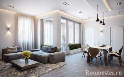 Дизайн большой гостиной — 50 идей интерьера