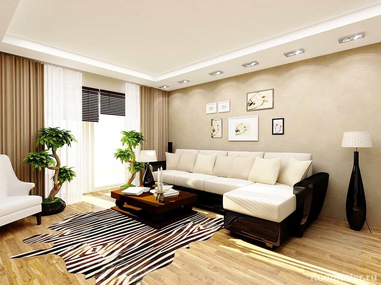 Дизайн гостиной 18 кв. м: идеи