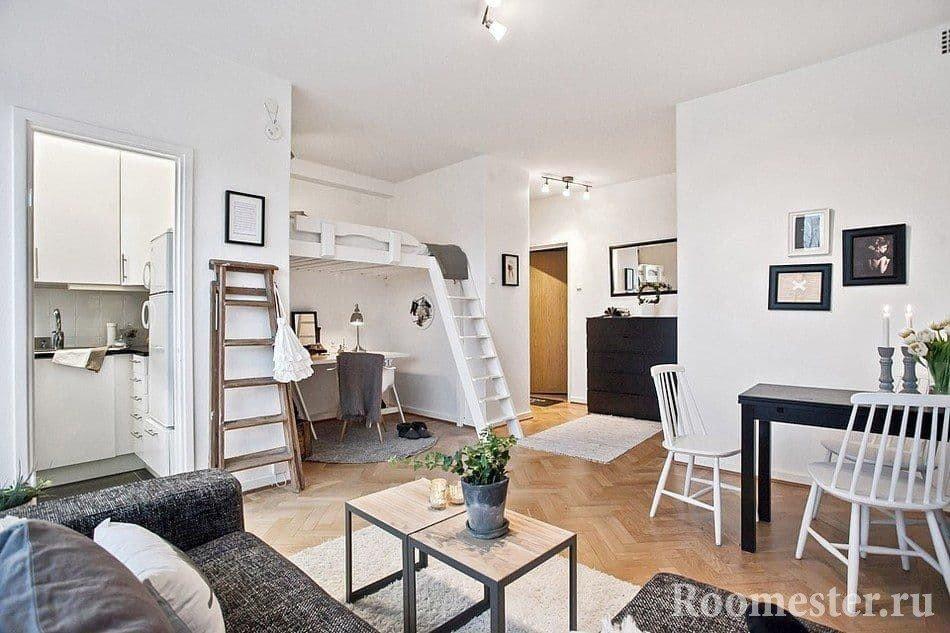 Уютный и продуманный дизайн интерьера маленькой квартиры