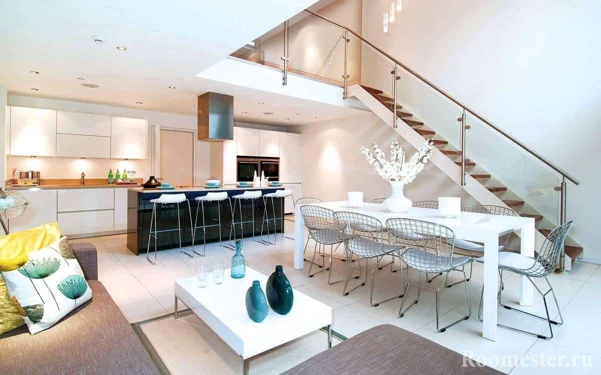 Интерьер и дизайн гостиной в частном доме