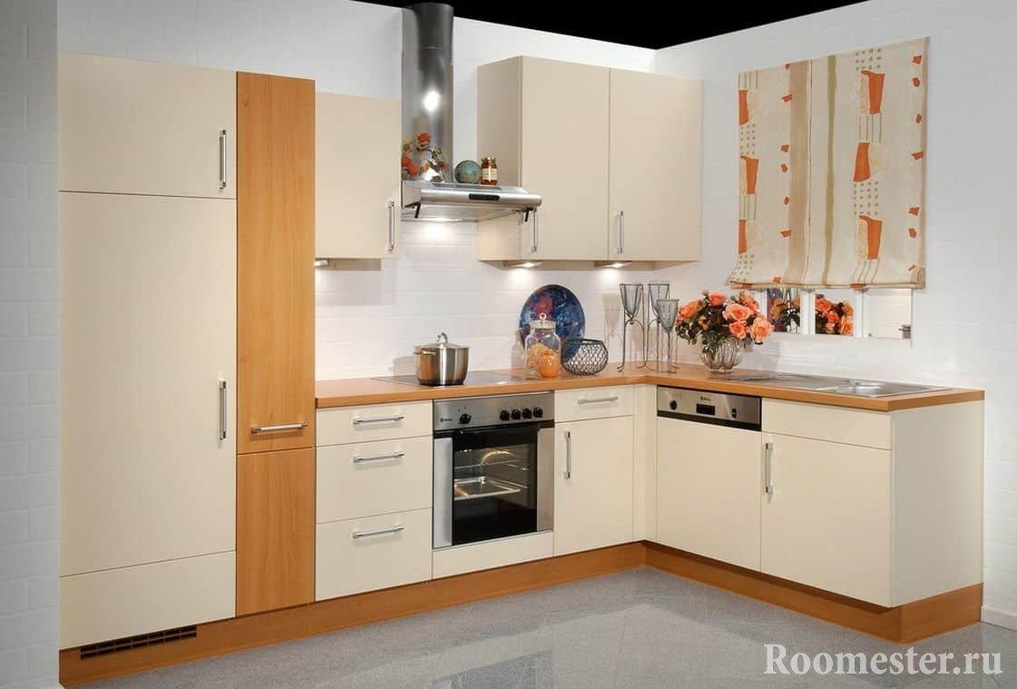 Угловая кухня дизайн проект
