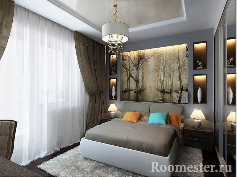 Комната 15 кв м дизайн спальня и