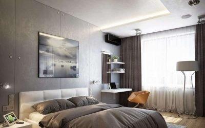 Дизайн спальни 13 кв. м — фото интерьера