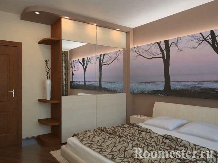 Дизайн спальни 13 кв
