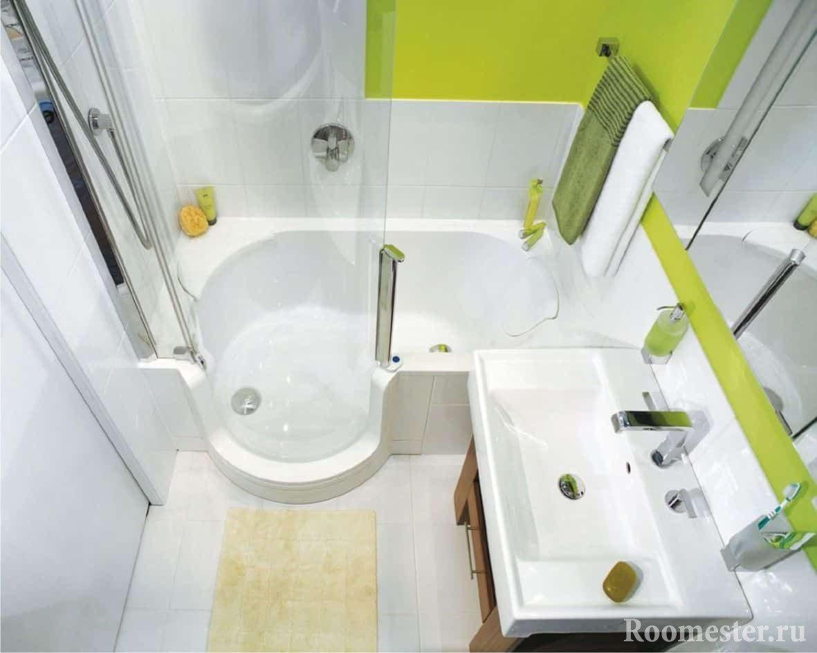 Расширение пространства в хрущевской ванной комнате