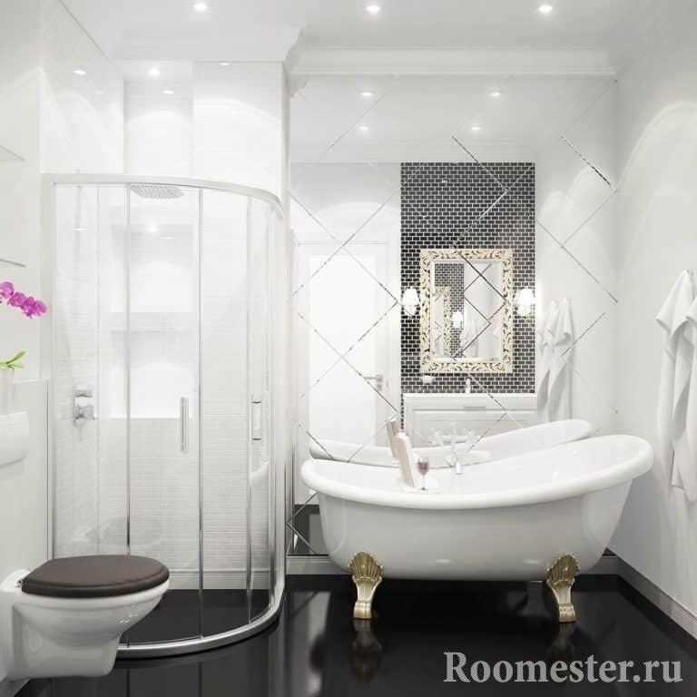 черно белые ванные комнаты видео