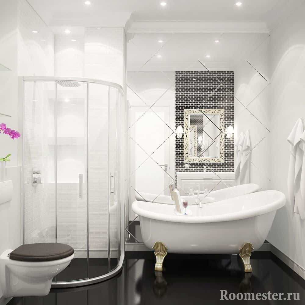 Шикарная сантехника в совмещенной ванной