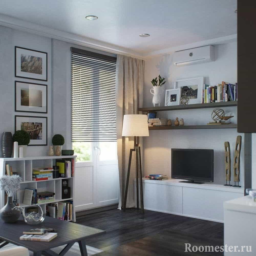 Уютная однокомнатная квартира со множеством мест для хранения