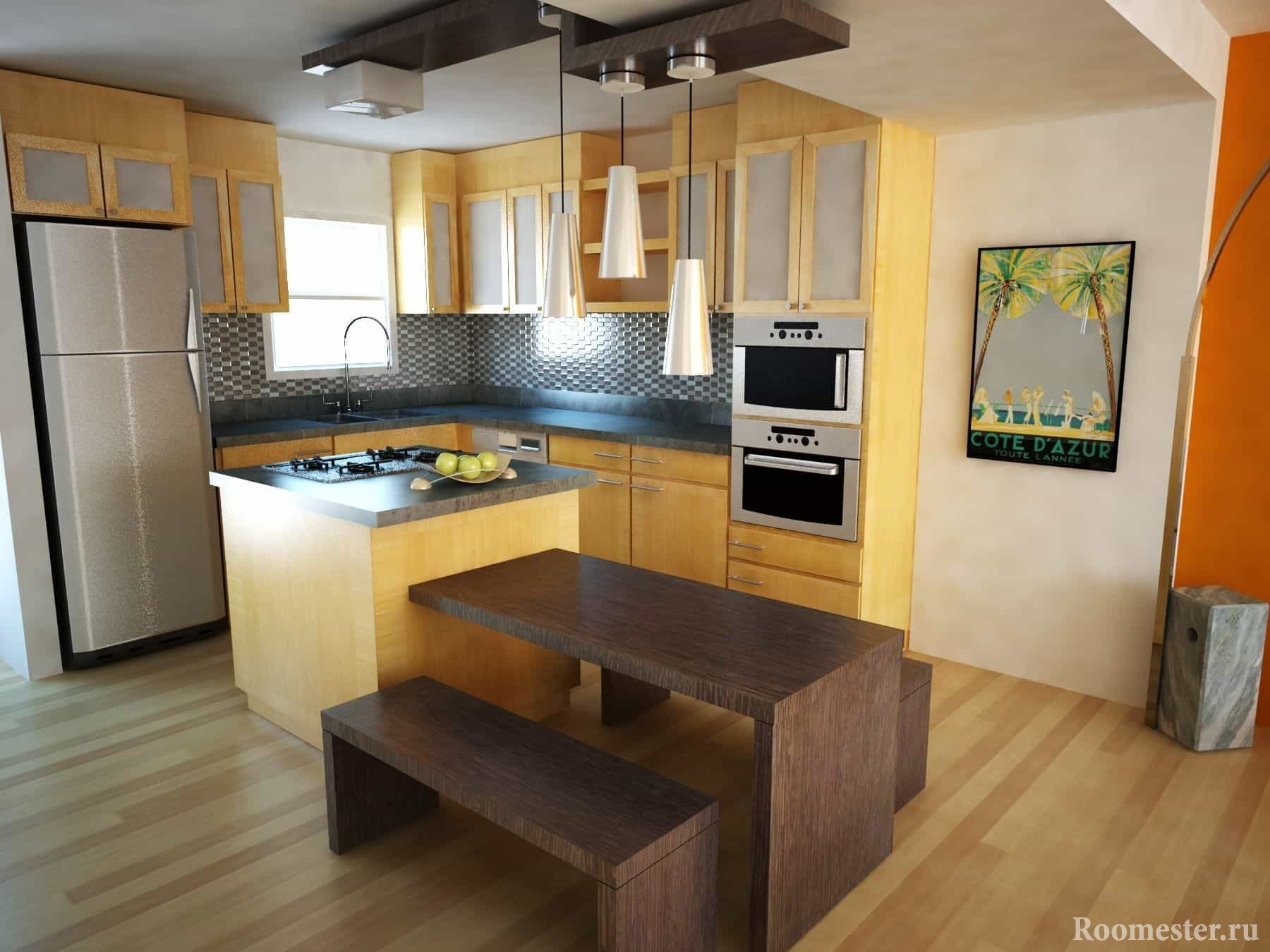 Дизайн большой кухни - идеи и примеры интерьера на фото