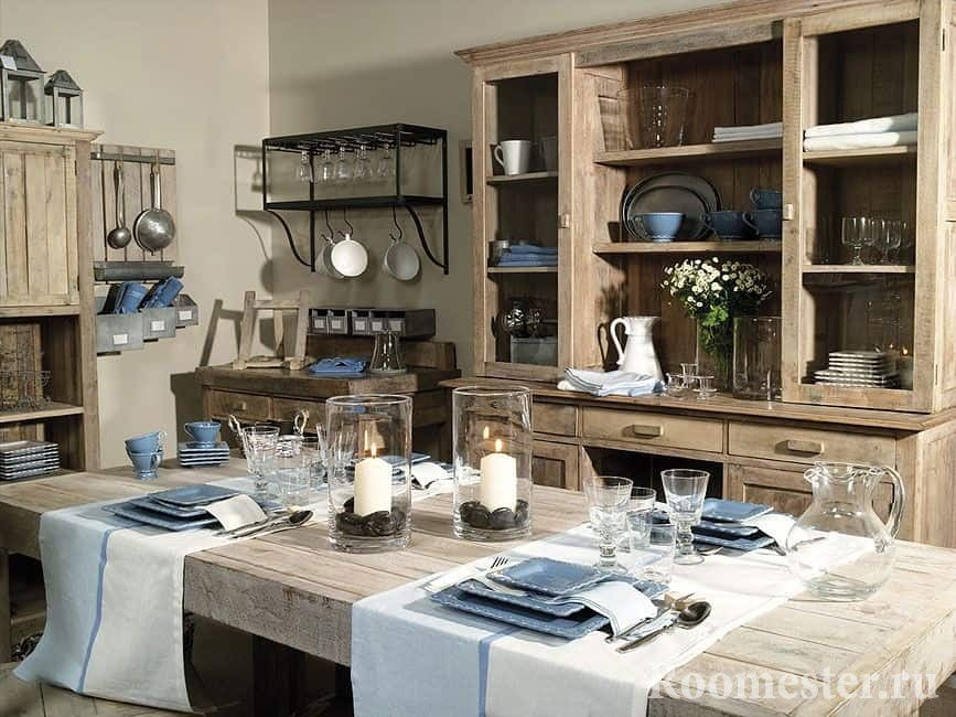 Декорирование кухни в стиле прованс