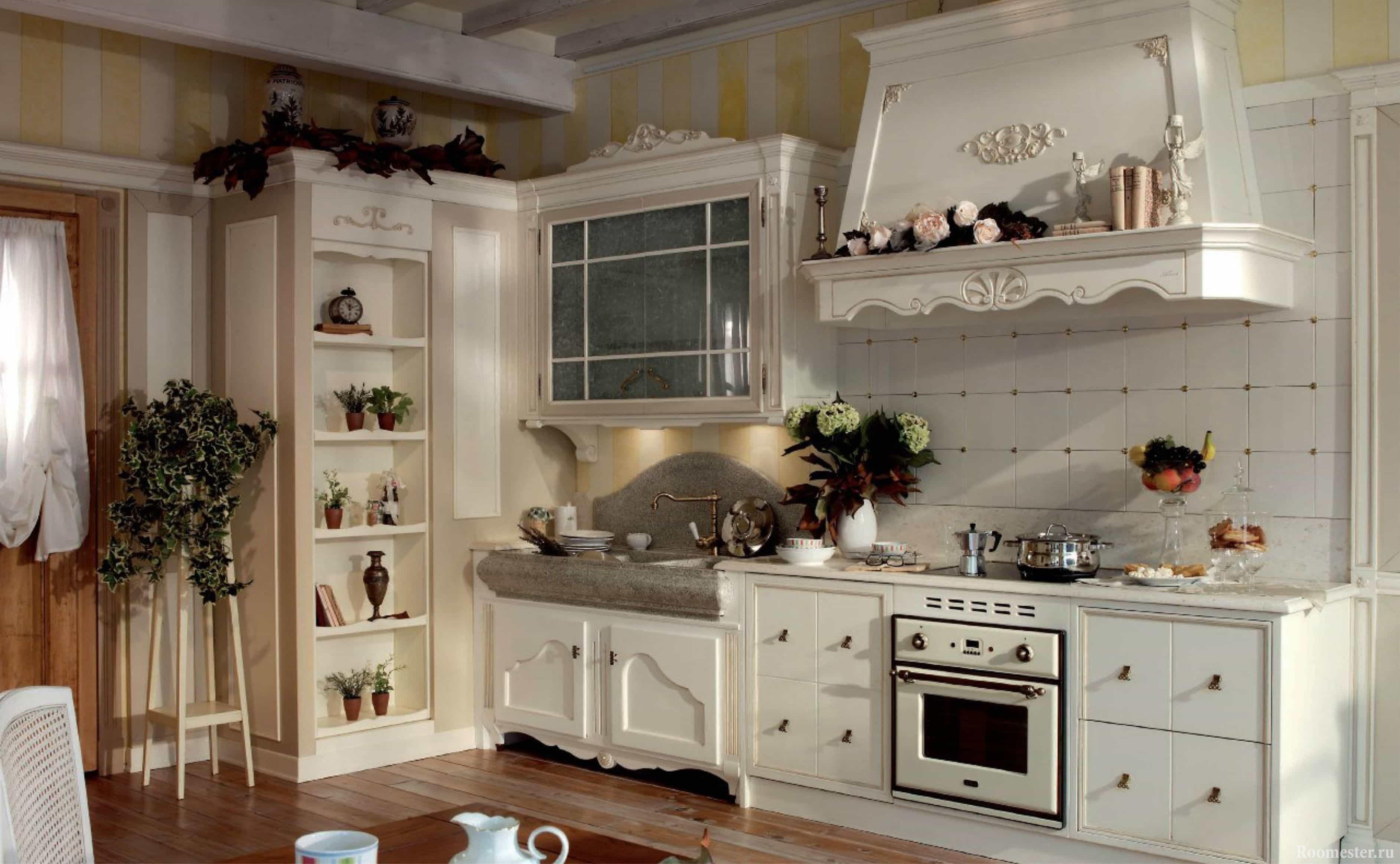 Декор кухни стиле кантри