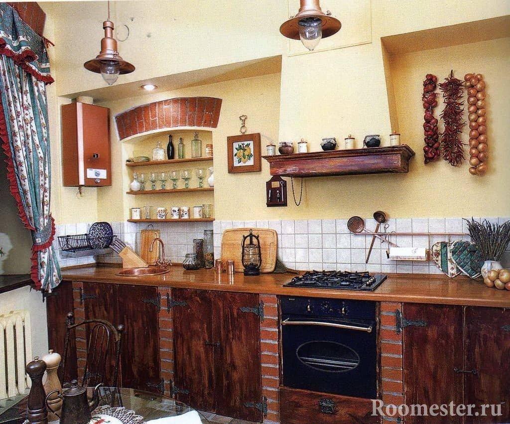 Элементы декора на русской кухне