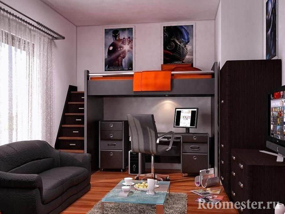 Комната с кроватью