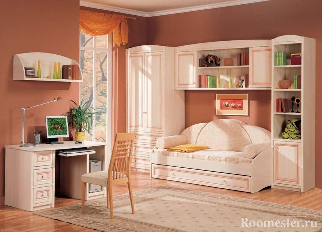 Комната для девочки 14-16 лет