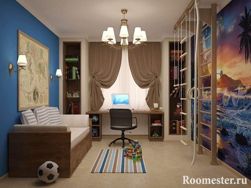 Комната для мальчика дизайн проект 171