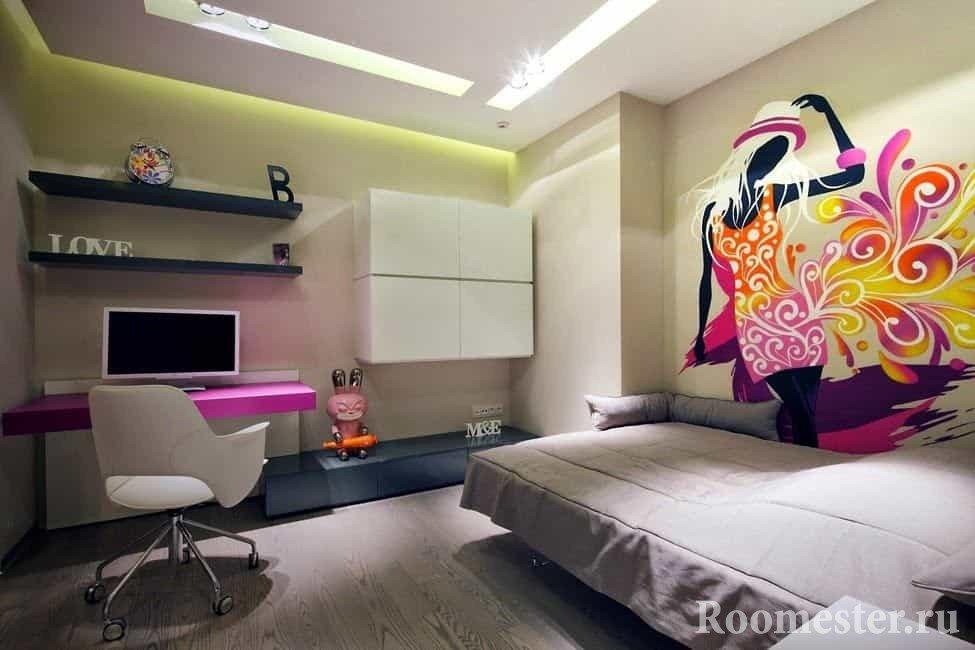 Фото дизайн детских комнат для девочек в современном стиле