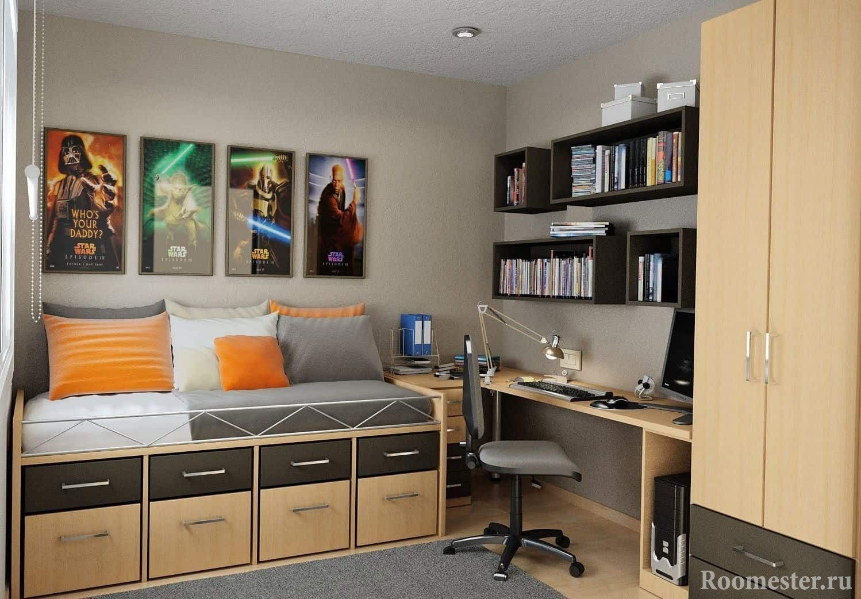 Фото комнат подростка мальчика дизайн