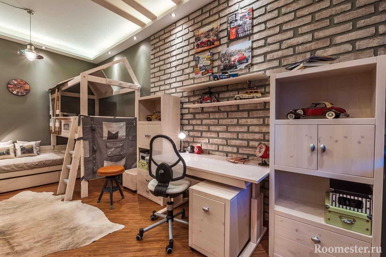 Комната для двух подростков в стиле лофт