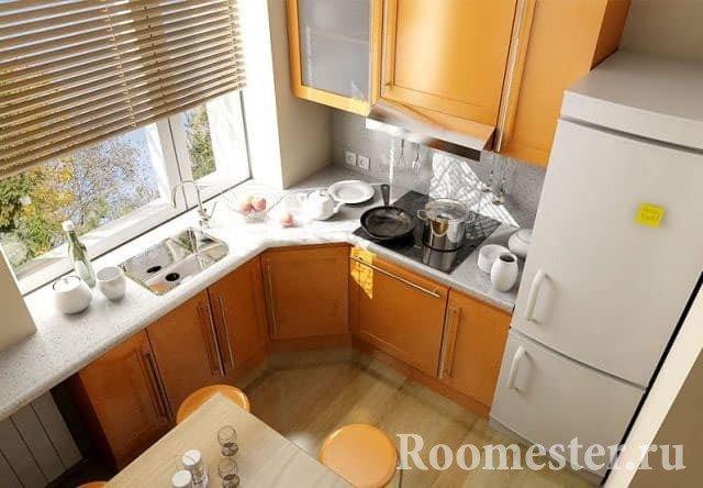 Отделка пола ламинатом в кухне