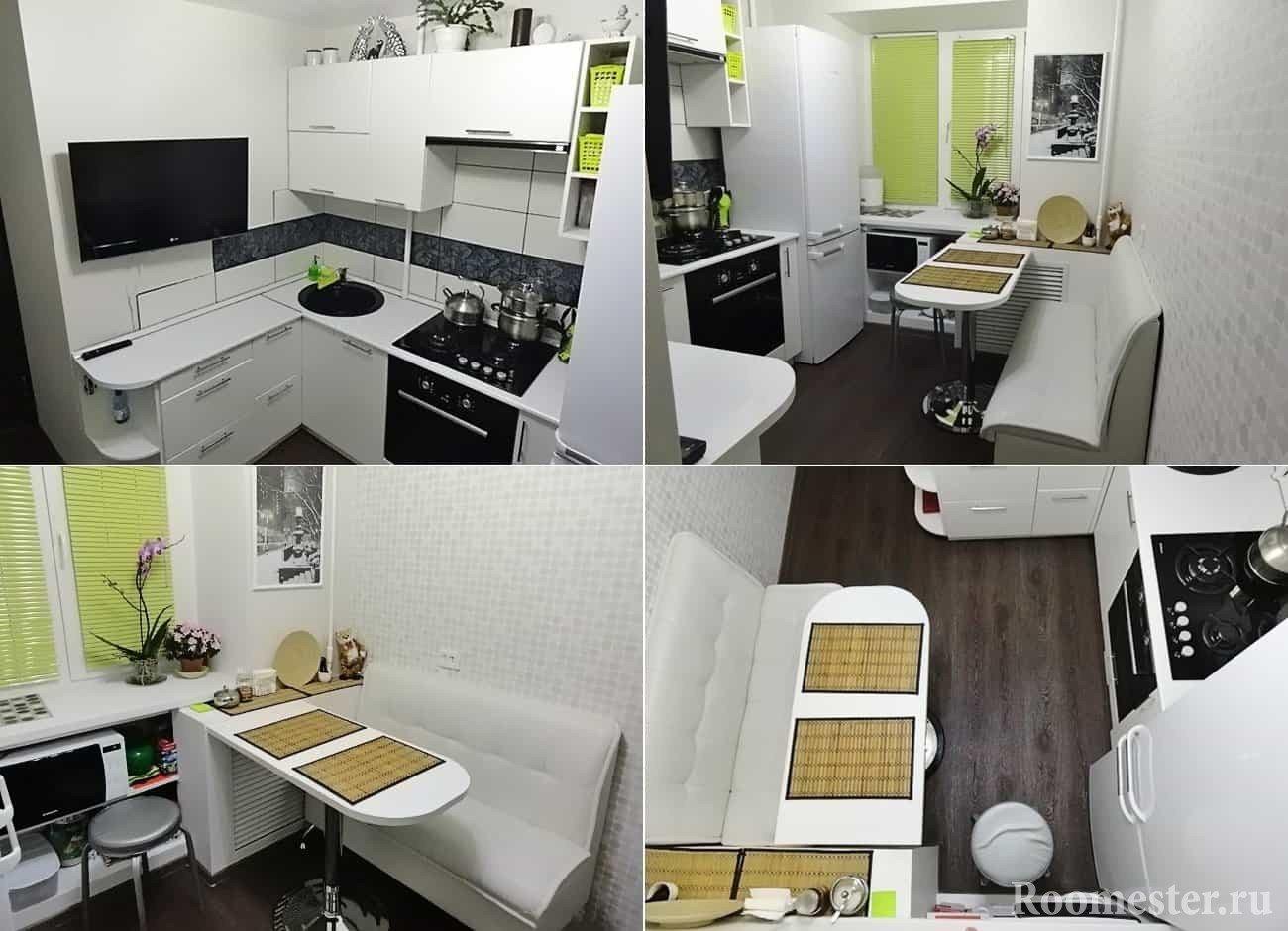 Дизайн кухни 6 кв м со всех сторон