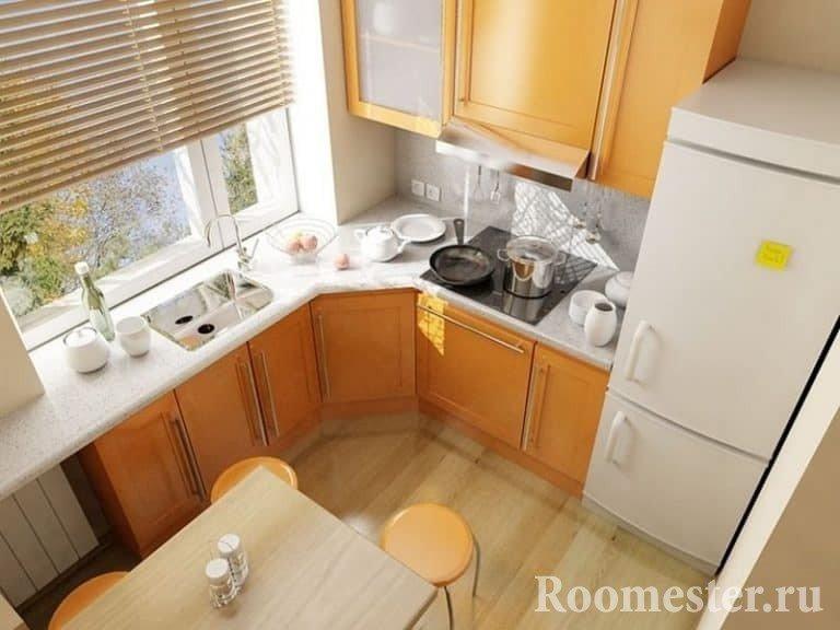 Дизайн кухни маленькой площади - идеи для расширения интерье.