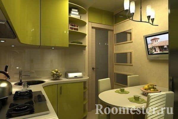 Интерьер кухни в хрущевке 4 кв.м фото