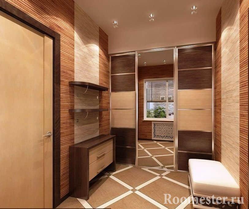 Дизайн квадратной прихожей в квартире