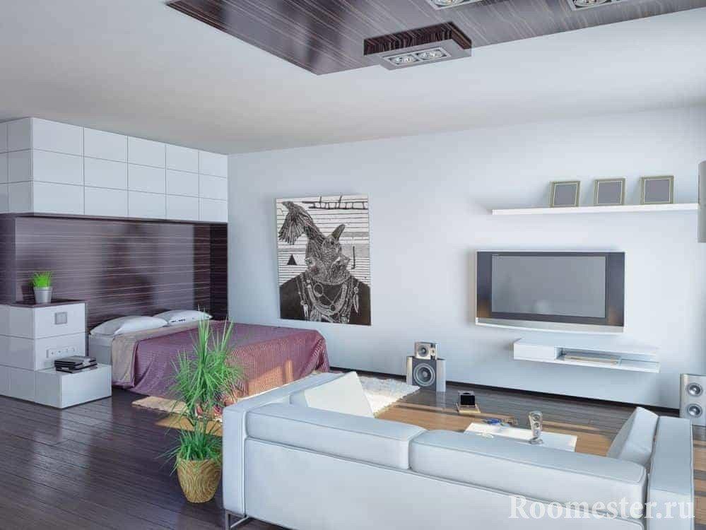 Квартира-студия с кроватью