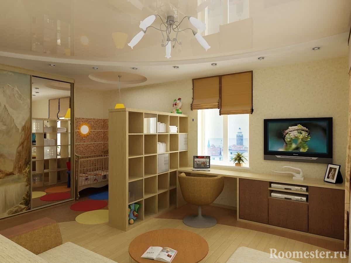 Дизайн комнаты для молодых родителей с малышом