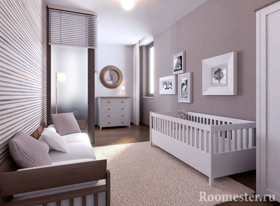Однокомнатная квартира для семьи с грудным ребенком