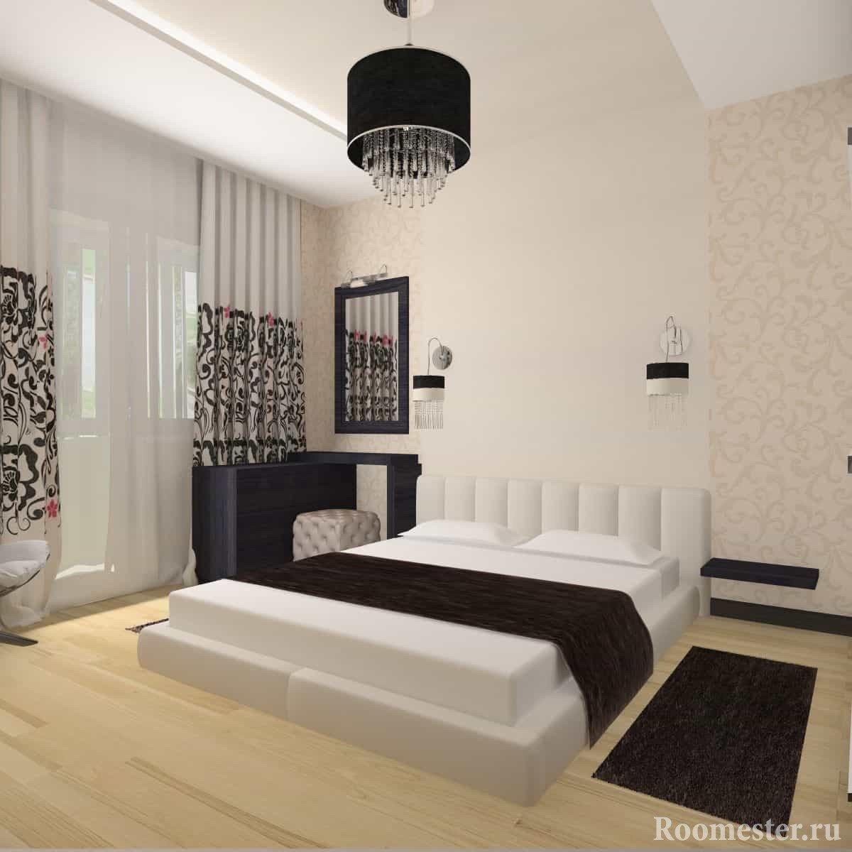 Дизайн-проект спальни 4 на 4 метра