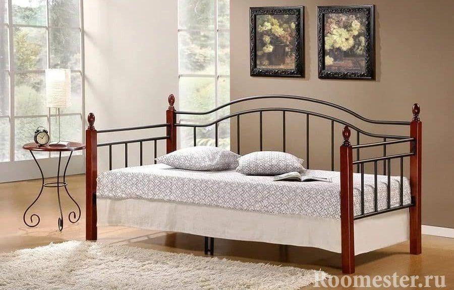 Диван-кровать с боковыми задней спинками