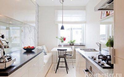 Дизайн вытянутой кухни — фото идеи интерьера