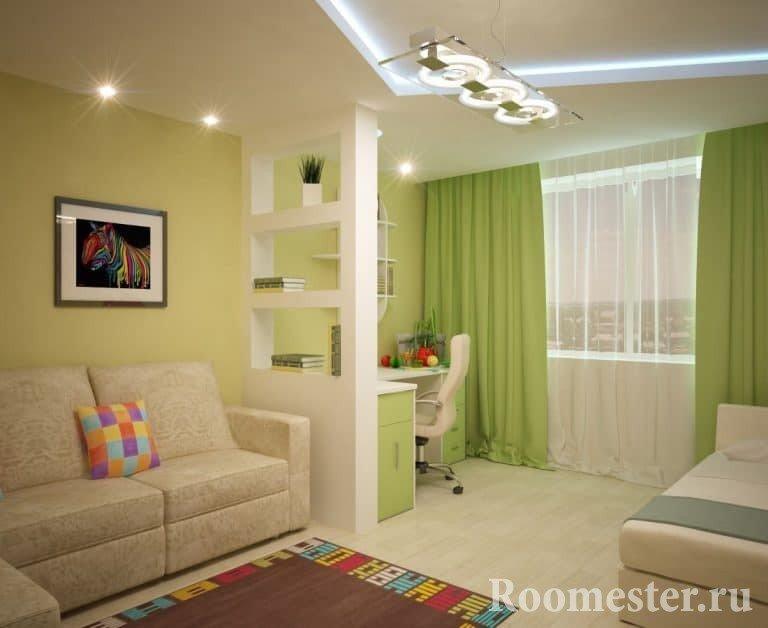 Дизайн комнаты 18 кв.м спальни-гостиной в квартире 18 кв.м