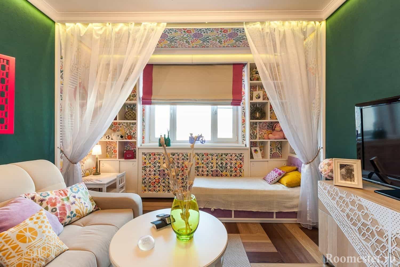 дизайн гостиной и детской в одной комнате
