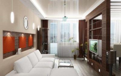 Идеи дизайна узкой гостиной с фото