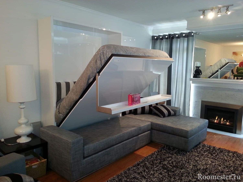 Диван-кровать, удобный трансформер для совмещенной гостиной и спальни