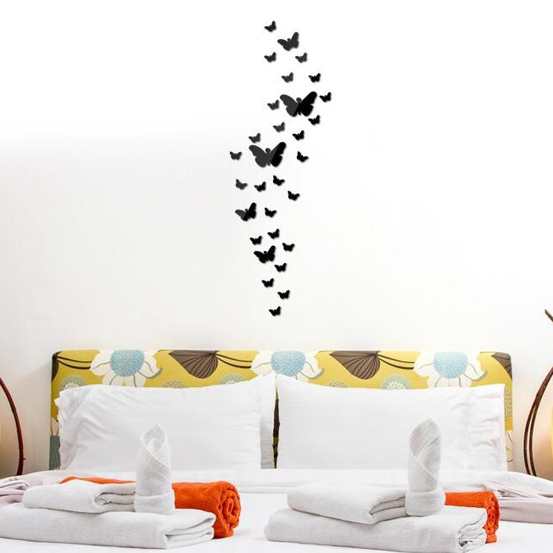Рисунок бабочки на стене своими руками фото