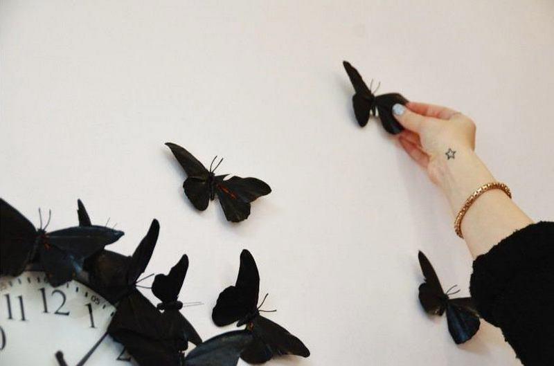 Крепление бабочек к стене