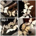 Крепим бабочек к венку