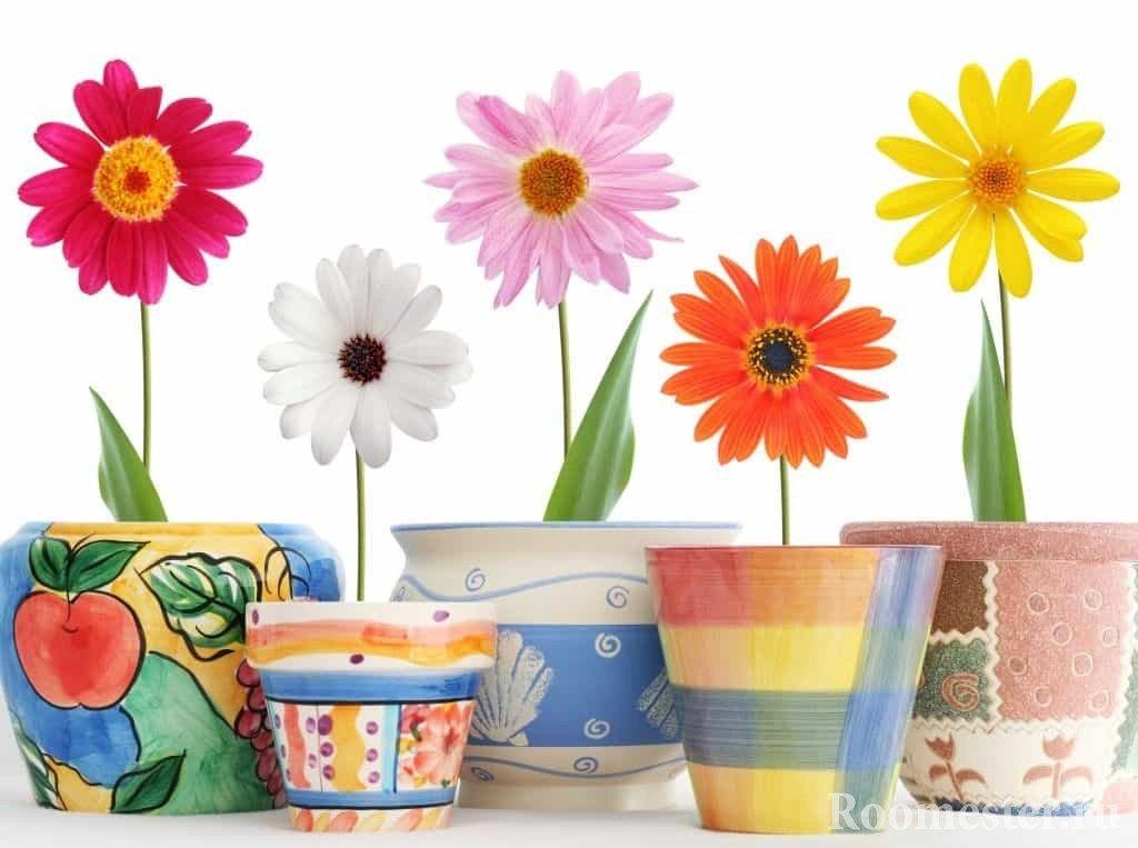 Декор цветочных горшков своими руками - 8 идей фото