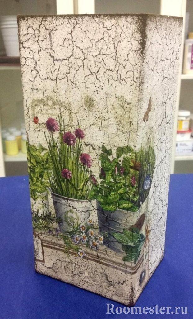 Оформление вазы в стиле прованс